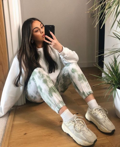 Abby Tie Dye Printed Joggers In Green