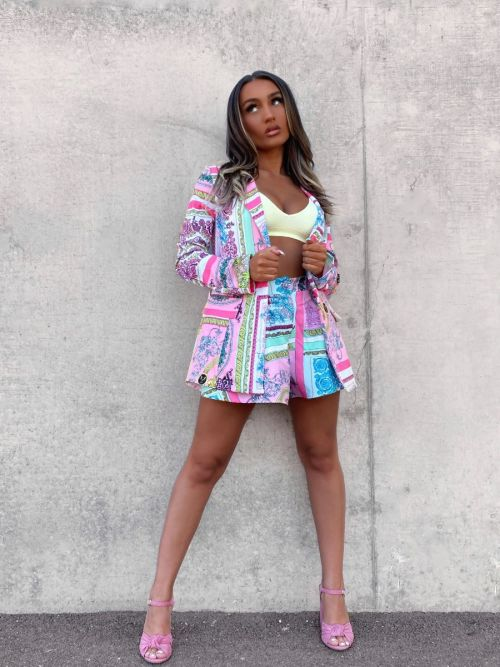 Rubby Patterned Print Shorts In Pink