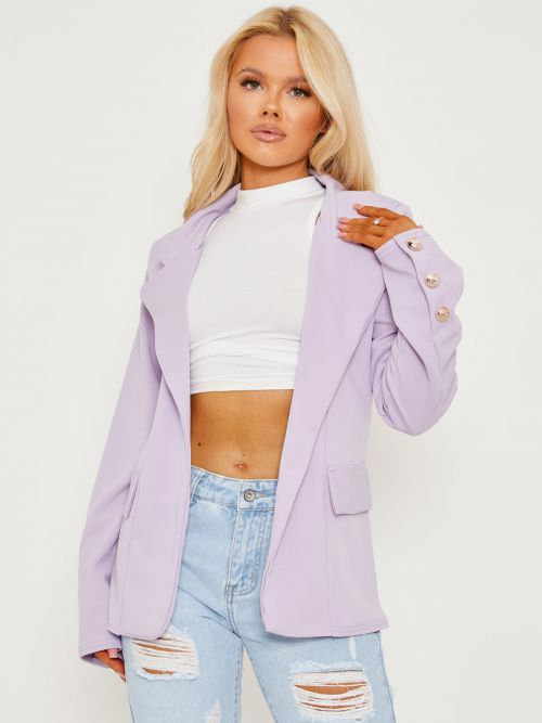 Keith Straight Fit Single Button Blazer In Lilac